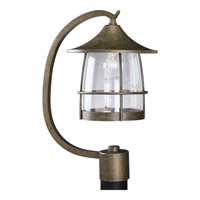 Prairie 1 Light 19 inch Burnished Chestnut Outdoor Post Lantern