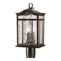Meadowlark 3 Light 18 inch Oil Rubbed Bronze Outdoor Post Lantern