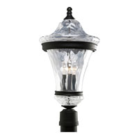 Progress Lighting Seirenes 3 Light Outdoor Post Lantern in Textured Black P5469-31