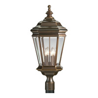 Crawford 4 Light 29 inch Oil Rubbed Bronze Outdoor Post Lantern