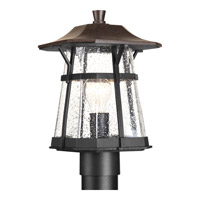 Derby 1 Light 13 inch Espresso Outdoor Post Lantern