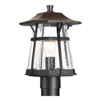 Progress P5479-84 Derby 1 Light 13 inch Espresso Outdoor Post Lantern