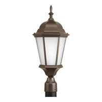Welbourne 1 Light 21 inch Antique Bronze Outdoor Post Lantern in Clear Beveled, Standard