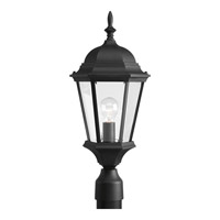 Welbourne 1 Light 21 inch Textured Black Outdoor Post Lantern in Clear Beveled, Standard