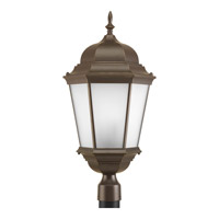Welbourne 3 Light 26 inch Antique Bronze Outdoor Post Lantern in Etched