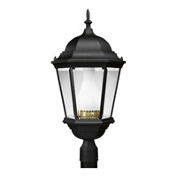 Welbourne 1 Light 26 inch Textured Black Outdoor Post Lantern
