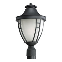Fairview 1 Light 19 inch Black Outdoor Post Lantern in Standard