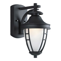 Fairview 1 Light 12 inch Black Outdoor Wall Lantern in Standard