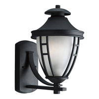 Fairview 1 Light 15 inch Black Outdoor Wall Lantern in Standard