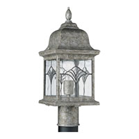 Progress Lighting Tiffany 1 Light Outdoor Post Lantern in Golden Baroque P5495-50 photo thumbnail