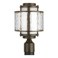 Bay Court Outdoor 1 Light 15 inch Antique Bronze Outdoor Post Lantern