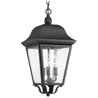 Progress P550001-031 Kiawah 3 Light 10 inch Black Outdoor Hanging Lantern Design Series