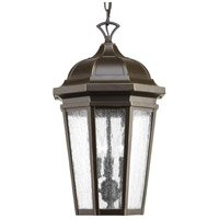 Progress P550002-020 Verdae 3 Light 10 inch Antique Bronze Outdoor Hanging Lantern Design Series