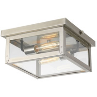 Progress P550007-135 Union Square 2 Light 12 inch Stainless Steel Outdoor Flush Mount Design Series