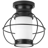 Haddon 1 Light 10 inch Black Outdoor Flush Mount