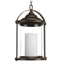 Progress P550026-020-30 Whitacre LED 12 inch Antique Bronze Outdoor Hanging Lantern Design Series