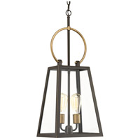 Barnett 2 Light 11 inch Antique Bronze Outdoor Hanging Lantern