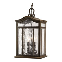 Progress P5502-108 Meadowlark 3 Light 9 inch Oil Rubbed Bronze Outdoor Hanging Lantern