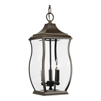 Progress Lighting Township 3 Light Outdoor Hanging Lantern in Oil Rubbed Bronze with Clear Beveled Glass P5504-108