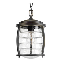 Progress Lighting Signal Bay 1 Light Outdoor Hanging Lantern in Oil Rubbed Bronze with Clear Seeded Glass P5521-108