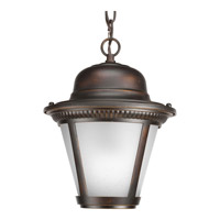 Westport LED 9 inch Antique Bronze Outdoor Hanging Lantern in Integrated LED, Etched Seeded