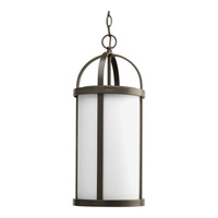 Progress P5549-20 Greetings 1 Light 10 inch Antique Bronze Outdoor Hanging Lantern