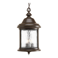 Progress Lighting Ashmore 3 Light Outdoor Hanging Lantern in Antique Bronze P5550-20