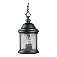 Progress Lighting Ashmore 3 Light Outdoor Hanging in Textured Black P5550-31