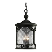 Progress Lighting Augusta 3 Light Outdoor Hanging in Forged Black P5555-80
