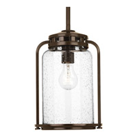 Progress Lighting Botta 1 Light Outdoor Hanging Lantern in Antique Bronze with Clear Seeded Glass P5561-20