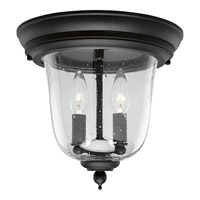 Progress Lighting Ashmore 2 Light Outdoor Ceiling in Textured Black P5562-31