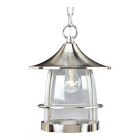 Progress P5563-09 Prairie 1 Light 10 inch Brushed Nickel Outdoor Hanging Lantern
