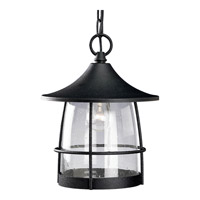 Prairie 1 Light 10 inch Gilded Iron Outdoor Hanging Lantern