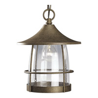 Progress P5563-86 Prairie 1 Light 10 inch Burnished Chestnut Outdoor Hanging Lantern
