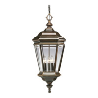 Crawford 4 Light 12 inch Oil Rubbed Bronze Outdoor Hanging Lantern