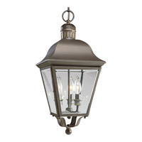 Andover 3 Light 10 inch Antique Bronze Outdoor Hanging Lantern