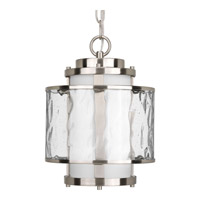 Progress P5589-09 Bay Court Outdoor 1 Light 9 inch Brushed Nickel Outdoor Hanging Lantern