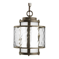 Progress P5589-20 Bay Court Outdoor 1 Light 9 inch Antique Bronze Outdoor Hanging Lantern