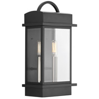 Santee 2 Light 15 inch Black Outdoor Wall Lantern, Small