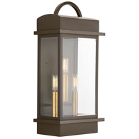 Santee 3 Light 20 inch Antique Bronze Outdoor Wall Lantern, Large