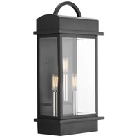 Santee 3 Light 20 inch Black Outdoor Wall Lantern, Large