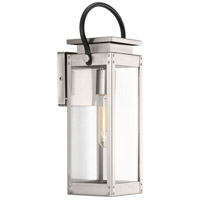 Union Square 1 Light 16 inch Stainless Steel Outdoor Wall Lantern, Small