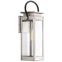 Union Square 1 Light 19 inch Stainless Steel Outdoor Wall Lantern, Medium, Design Series