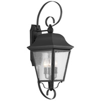 Kiawah 3 Light 27 inch Black Outdoor Wall Lantern, Large