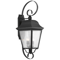 Progress P560013-031 Kiawah 3 Light 35 inch Black Outdoor Wall Lantern Extra Large Design Series