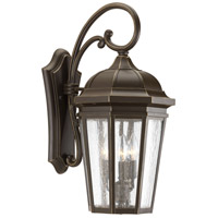 Verdae 3 Light 22 inch Antique Bronze Outdoor Wall Lantern, Large