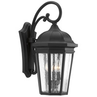 Verdae 3 Light 22 inch Black Outdoor Wall Lantern, Large