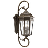Verdae 3 Light 31 inch Antique Bronze Outdoor Wall Lantern, Extra Large