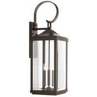 Gibbes Street 3 Light 31 inch Antique Bronze Outdoor Wall Lantern, Large