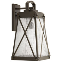 Creighton 1 Light 19 inch Antique Bronze Outdoor Wall Lantern, Large